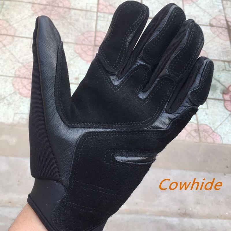 Купить перчатки мужские для скалолазания износостойкие митенки из воловьей