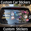 Пользовательские автомобильные наклейки s имя логотип текст наклейка на автомобиль пользовательские наклейки для автомобилей авто мотоци...