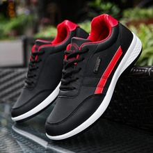 Men genuine PU leather shoes Fashion Sneakers for Breathable Lace up Mens Casual Shoes Spring mens chaussure homme