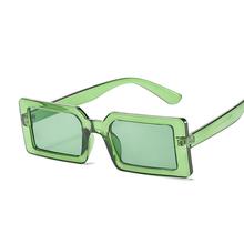 2021 kwadratowych okularów przeciwsłonecznych kobiet luksusowej marki podróży mały prostokąt okulary kobieta moda Retro Lunette De Soleil Femme tanie tanio ZBHWISH CN (pochodzenie) WOMEN Akrylowe SQUARE Adult Z tworzywa sztucznego MIRROR Przeciwodblaskowe UV400 42mm 64mm