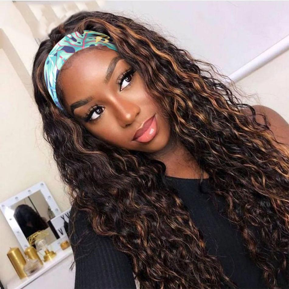 Beaudiva Deep Wave Wig  Headband Wig  Highlight P4/27 Color Wig  Natural  Wig  Hair  4