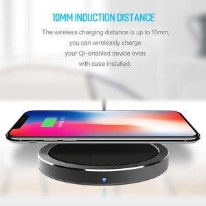 Image 2 - רוק 10W W4 2A צ י אלחוטי מטען עבור IPhone X 8 8 בתוספת מהיר טעינת דיסק מטען עבור סמסונג s9 S8 S7 беспроводная зарядка