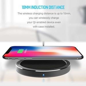 Image 2 - ROCK 10W W4 2A Qi Caricatore Senza Fili per IPhone X 8 8 Più Veloce di Ricarica Caricabatterie per il Samsung s9 S8 S7 беспроводная зарядка