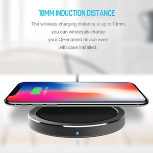 Image 2 - ROCK 10W W4 2A Qi Wireless Charger for IPhone X 8 8 Plus Fast Charging Disk Charger for Samsung S9 S8 S7 беспроводная зарядка