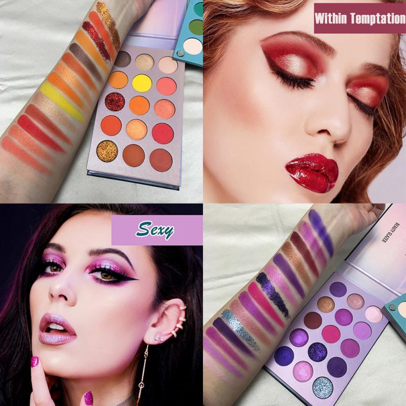 60 Colors Pearlescent Long-lasting Eyeshadow Palette Shimmer Matte Eyeshadow Not-blooming Eye Shadow Brighten Eyes Makeup TSLM2
