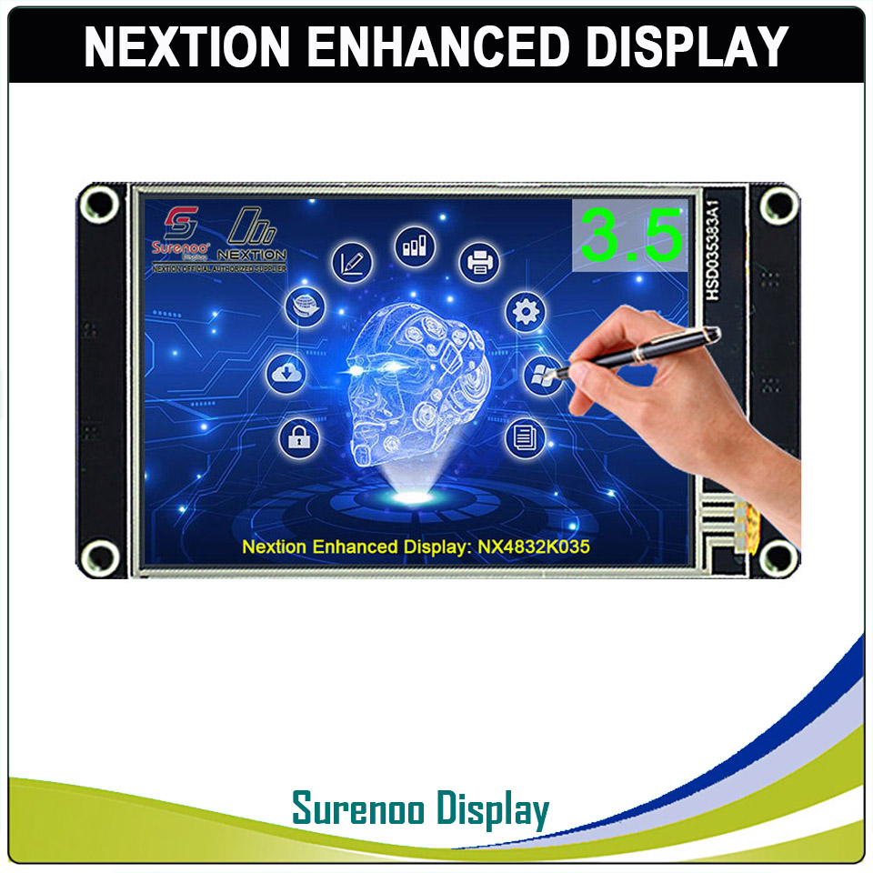 "3.5"" NX4832K035 Nextion Enhanced HMI USART UART Serial Resistive Touch TFT LCD Module Display Panel For Arduino Raspberry Pi"