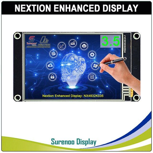 "3.5 ""NX4832K035 Nextion 향상된 HMI USART UART 직렬 저항 막 터치 TFT LCD 모듈 디스플레이 패널 Arduino Raspberry Pi 용"
