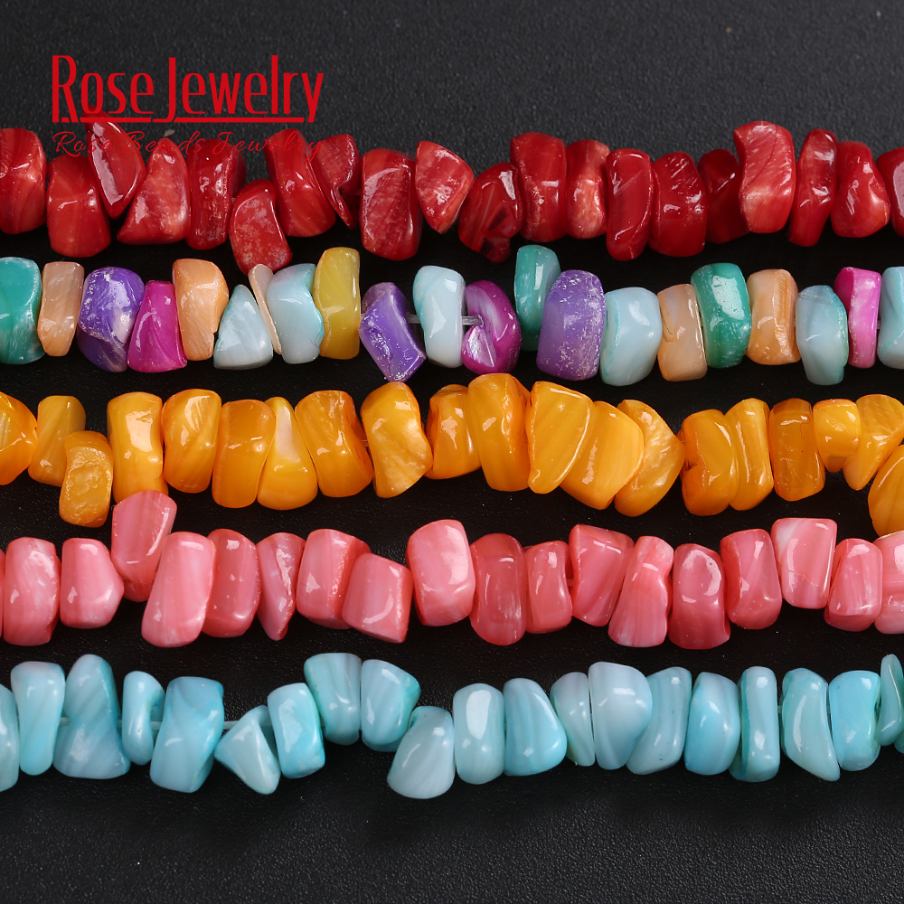 Loose-Beads Chip-Shell Gravel Natural-Stone Making-Accessories Jewelry Strand Round