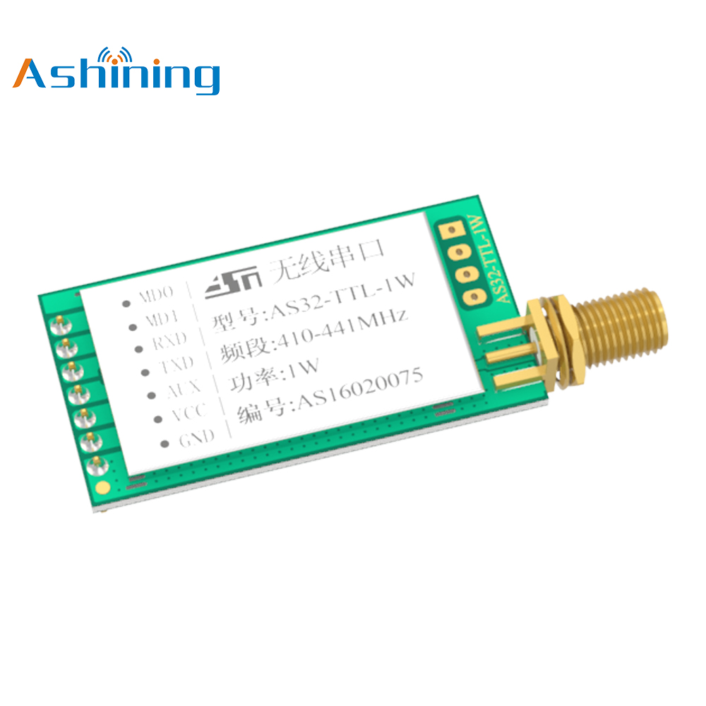 433mhz 1W 30dBm 8000m LoRa Sx1278 ASHINING Star Product AS32-TTL-1W Wireless RF Transmitter Receiver Module