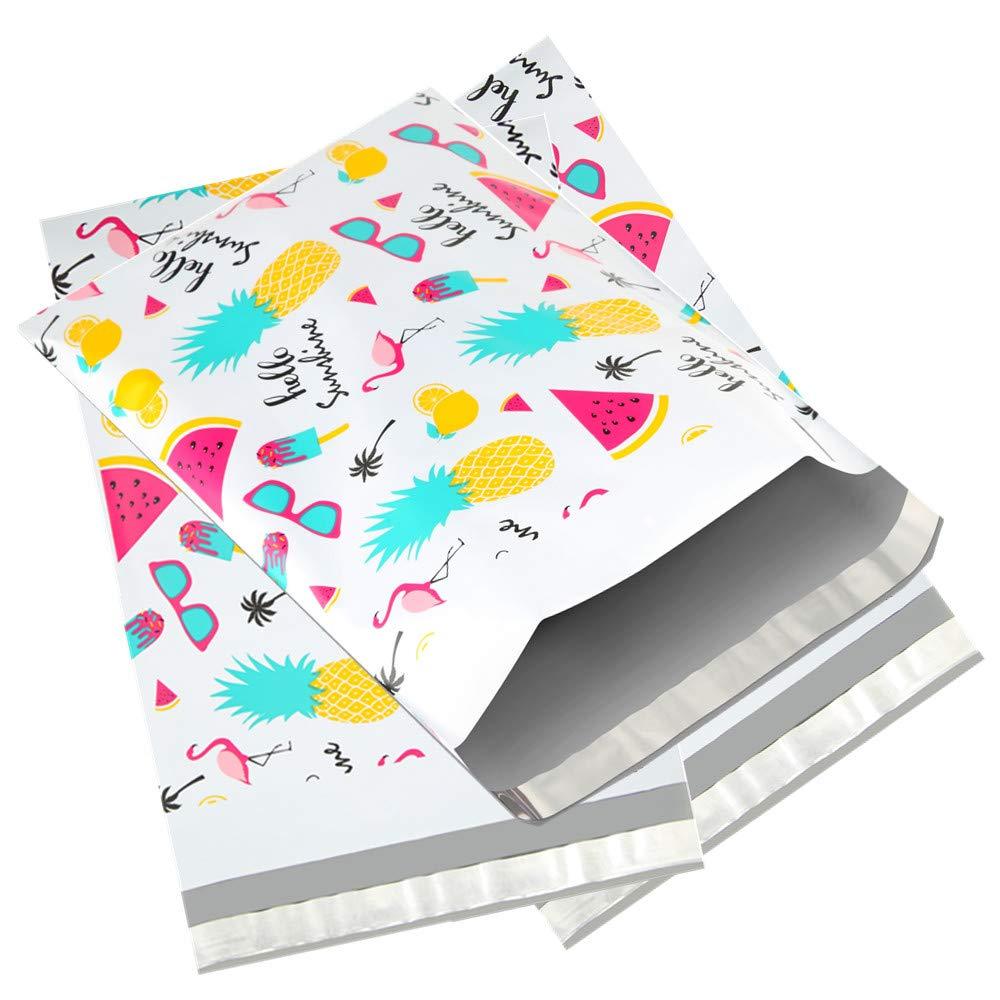 100pcs 15x23cm 6x9 Inch Printed Poly Mailers Self Seal Plastic Envelope Bags