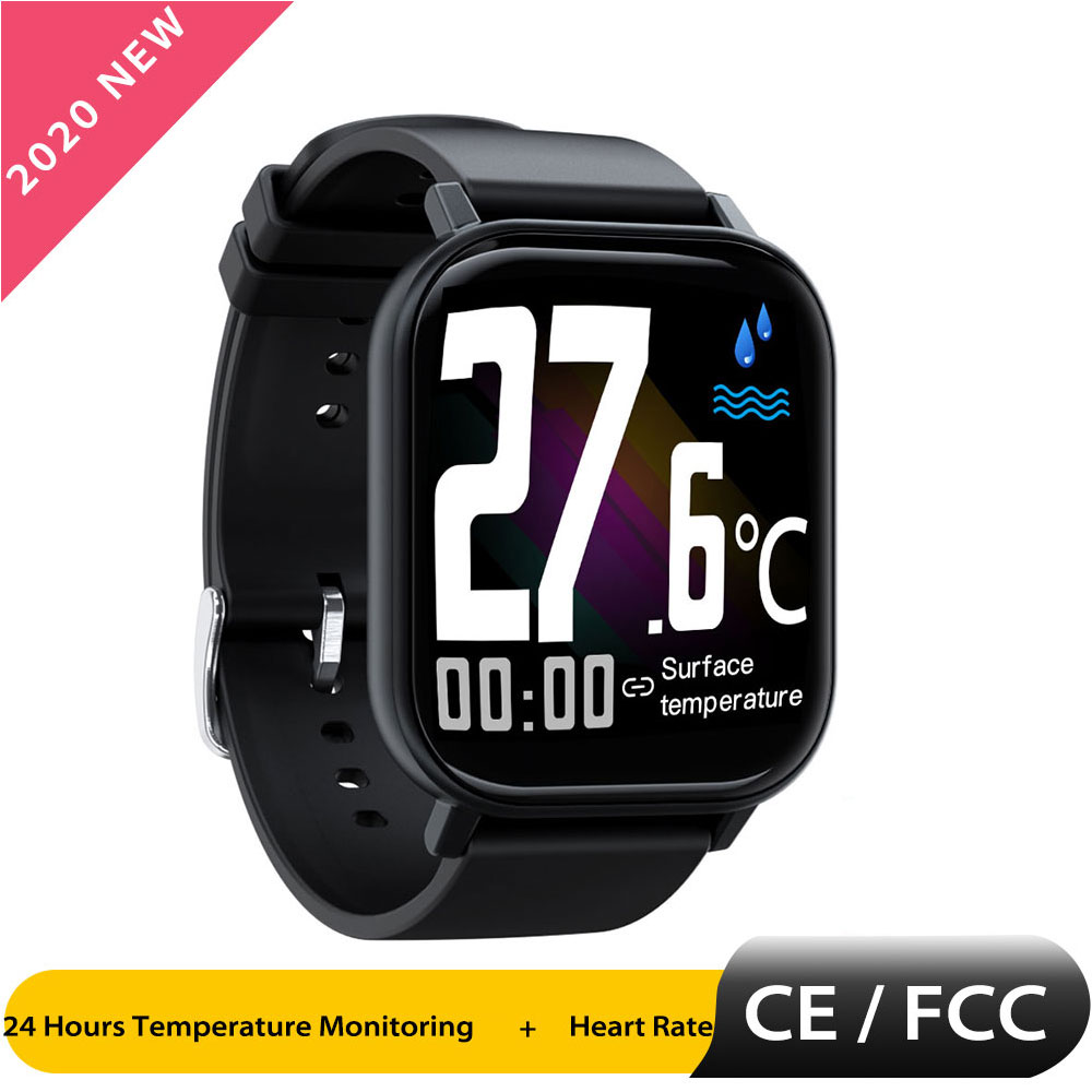 GTR Smart Watch Men Android Smartwatch Temperature Heart Rate Blood Pressure Monitor 1.6 Inch IP68 Waterproof Smart Wearable