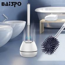 BAISPO TPR 화장실 브러시 가정용 청소 제품 실리콘 브러시 헤드 욕실 액세서리 세트 벽 마운트 청소 도구