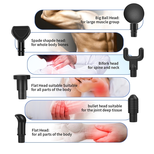 Massage Gun Fascia Gun Sport Therapy Muscle Massager Body Relaxation Pain Relief Slimming Shaping Massager With LCD Display 5