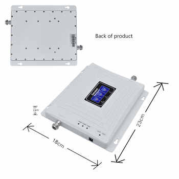 Lintratek Tri Band 900 1800 2100 GSM DCS WCDMA 2G 3G 4G LTE Signal Booster 900/1800/2100 Cell phone Cellular Repeater Amplifier