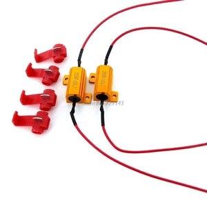 4X 25W LED Reverse Brake Turn Signal Light Load Resistor Car Light Resistance 6/8/10/25R Load Resistors Whosale&Dropship