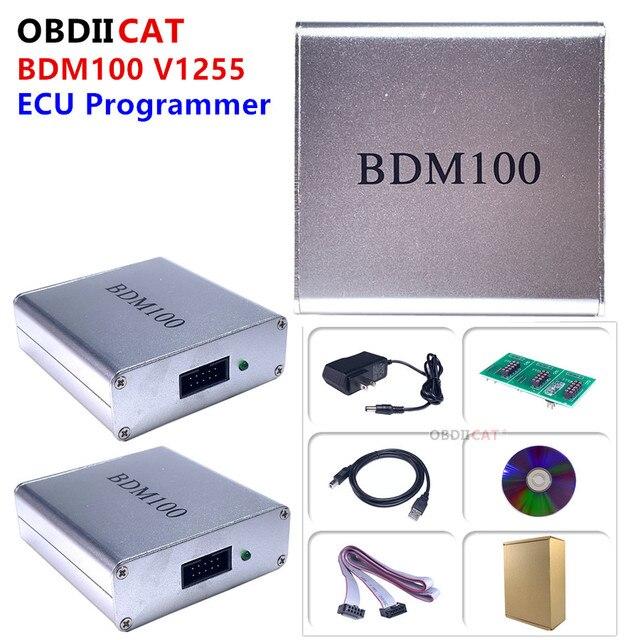 BDM100 Professional ECU Flasher Chip Tuning Programmer BDM 100 V1255 Interface ECU Flasher Code Reader OBDII Diagnostic Tool