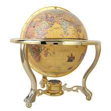 Educational-Tool Compass Globe Rotation with 720-Degree Reading Office-Desk-Decor Teaching-Crafts