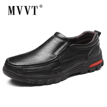 Plus Size Genuine Leather Men Shoes Slip On Loafers Casual