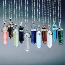 Momiji rhombus natural pedra pingente de cristal quartzo turquesa opal endulum pingente para diy jóias fazendo colar acessórios