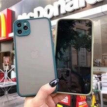Camera Protection Bumper Case For iPhone 11 Pro Max XS Max XR XS X 6 6S 7 8 Plus Transparent Matte Back Cover For iPhone 11 Case шкаф пенал sanvit сольвейг 30 с фактурой под дерево венге