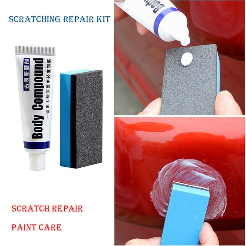 Car Body Compound Paste Set Scratch Cream Sponge Paint Care Auto Polishing Grinding Compound Polish Care Body Grinding