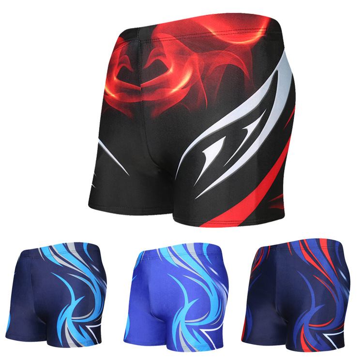 Beach Men Swimming Shorts Comfortable Boxer Swimming Trunks Fashion Printed Men's Hot Springs Swimming Trunks