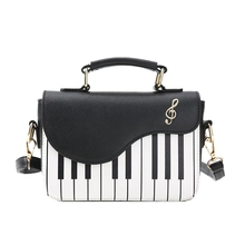 JUILE New Fashion Women's Shoulder Bag Ladies Piano keys Designer Handbags Clutch Female Embroidery Crossbody Messenger