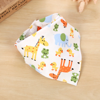 1pcs Pattern Bibs Cotton Baby Feeding Smock Infant Burp Cloths Cartoon Saliva Towel Baby Eating Accessory Soft Baby Stuff
