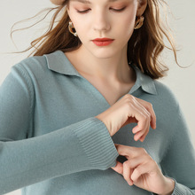 Lapel Knitting Pullover Woman 2019 Loose Rendering Knitting Shirt Clothes Joker Loose Coat