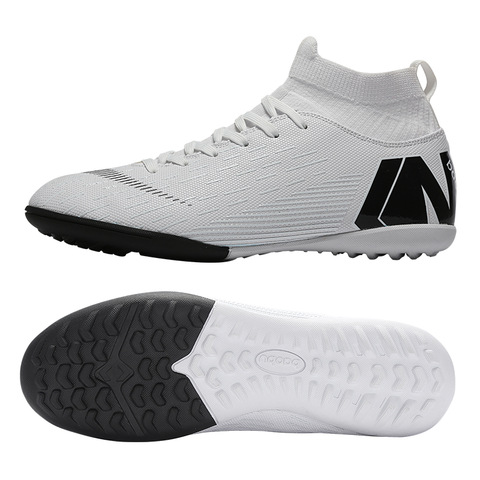 Outdoor Men Boys Soccer Shoes Football Boots High Ankle Kids Cleats Training Sport Sneakers Size 35-46 Dropshipping Multan
