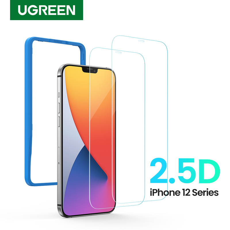 UGREEN Phone Screen Protector for iPhone 12 Mini 12 Pro 2.5D Clear Tempered Glass Screen Protector F