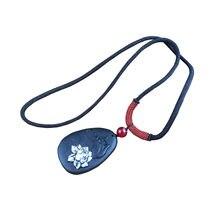 Ожерелье винтажное для йоги ожерелье с подвеской из черного