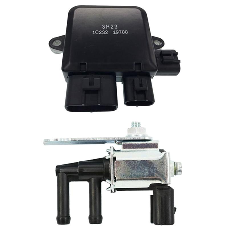 1 Pcs Cooling Fan Control Unit Module & 1 Pcs Vapor Canister Purge Solenoid Valve