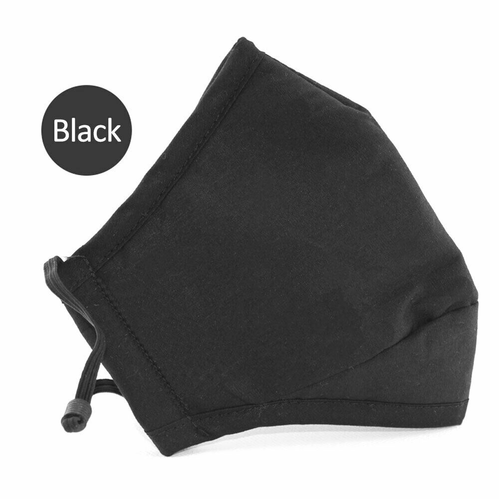 YELITE Reusable Cotton Mouth Face Mask Cover Respirator Anti-Dust Anti Pollution PM2.5 Anti-fog Cotton Black Unisex Mouth Muffle