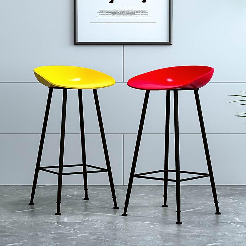 Nordic Bar Chair European Modern Simple Household Golden Iron Stool Creative Bar Chair Net Red High Chair