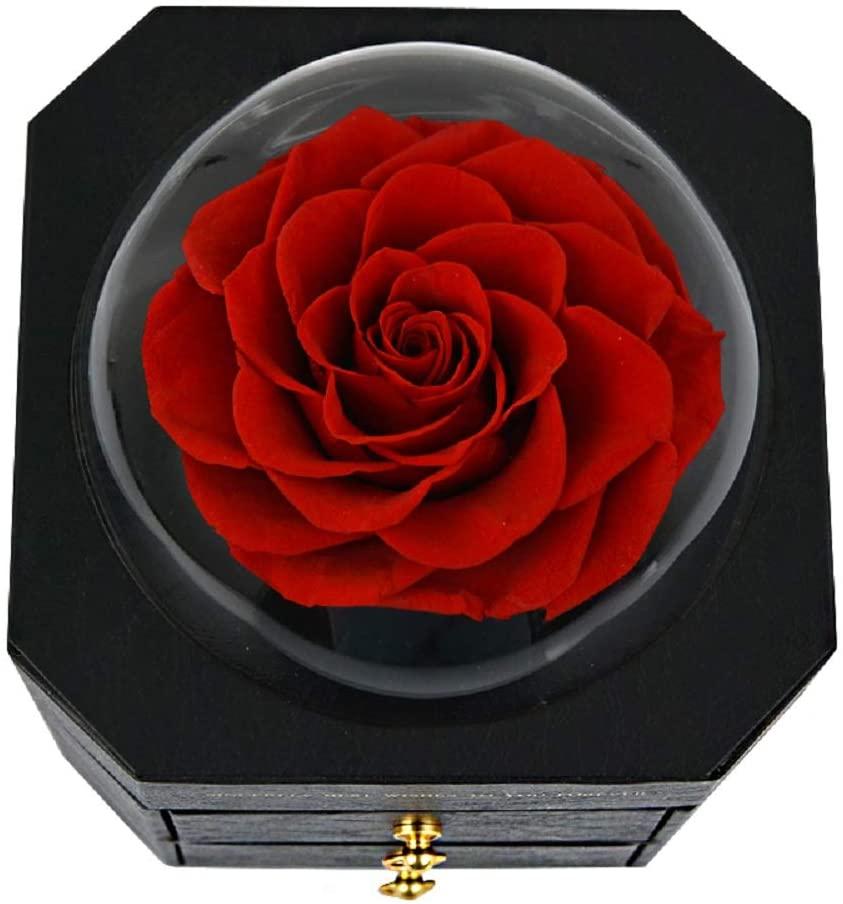 Вечная роза, искусственные цветы, кольцо, чехол, ювелирное ожерелье, коробка для хранения, Свадебный декор, подарок на день рождения для нее