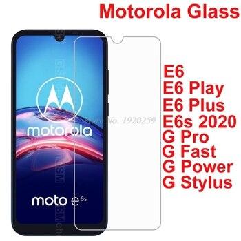 Перейти на Алиэкспресс и купить Закаленное стекло для Motorola Moto e6s E6 Play Plus защитная пленка на Moto G Fast Power Pro стилус Защитная пленка для экрана