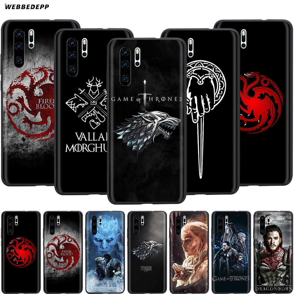 Webbedepp Game of Thrones étui pour huawei P8 P9 P10 P20 P30 Lite Pro P Smart Z 2019 2019 Mini