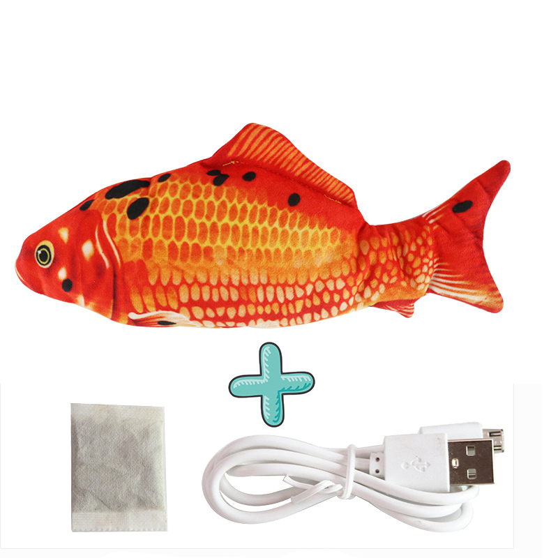 Cat USB Charger Toy Fish Interactive Electric floppy Fish Cat toy Realistic Pet Cats Chew Bite Toys Pet Supplies Cats dog toy 10