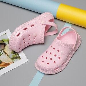 Image 3 - 2020 Nieuwe Zomer Vrouw Schoenen Dames Strand Slippers Vrouwen Platte Sandalen Big Size Klompen Heren Schoenen Slides Sandalen Zapatos Sandalias