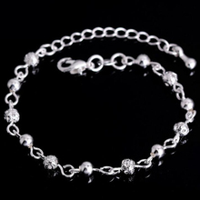 New Charm Hollow Ball Foot Chain Anklet 925 Sterling Silver Fashion Small Round Bead Ball Anklets Chain For Women Jewelry Gift