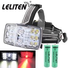 USB Перезаряжаемые 11 режим 14 светодиодный белый/красный светильник головной светильник рыбалка Фонари вспышка светильник фары охотничий фонарь