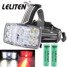 Usb充電式11モード14 led白色/赤色光ヘッドライト釣りランタン懐中電灯ヘッドランプ狩猟ランプトーチ