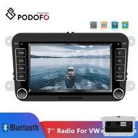 Podofo 7'' Car Multimedia Player 2din Car Radio Audio Bluetooth Touch MP5 FM Radio Android&IOS Mirror Link For VW Autoradio