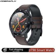 Cobrafly DT98 montre intelligente hommes IP68 étanche Bluetooth appel PPG fréquence cardiaque tensiomètre Smartwatch pour huawei xiaomi