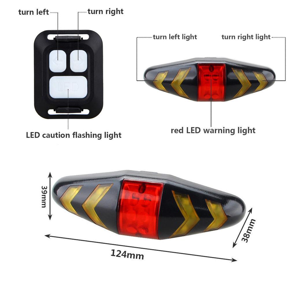 Купить с кэшбэком USB Rechargeable Bicycle Turn Signal Light Wireless Remote Mountain Bike Taillight Flashing Headlight