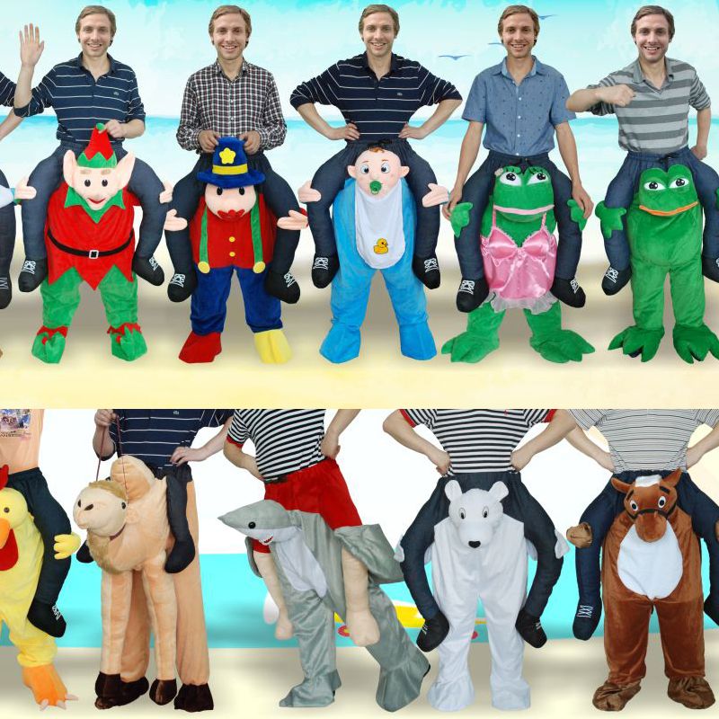 Cartoon Characters Fancy Dress Shoulder Ride On ME New Mascot Unisex Novelty Cosplay Costume