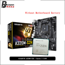 Suit A320m S2h GIGABYTE Socket Am4 Amd Ryzen R3 3100 CPU Cooler Without