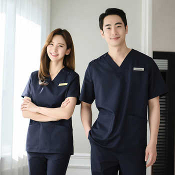 Hand-washing clothes short-sleeved cosmetic surgery hospital surgical suit split suit beauty salon nurses wear men and women - DISCOUNT ITEM  0% OFF All Category