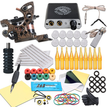 Complete Tattoo Kits Tattoo Machine Guns Black Ink Power Sets Needles Accessories For Beginner